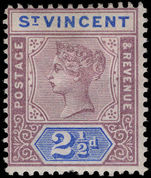 St Vincent 1899 2½d dull mauve and blue lightly mounted mint.