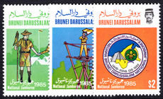 Brunei 1985 Scout Jamboree unmounted mint.