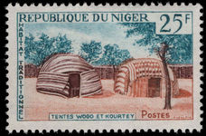 Niger 1964 25f Wogo Tent unmounted mint.