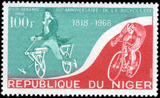 Niger 1968 Bicycle unmounted mint.