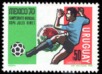 Uruguay 1970 World Cup Football unmounted mint.