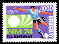 Uruguay 1973 1000p World Cup Football unmounted mint.
