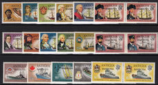 Barbuda 1973-74 Ships set in horizontal pairs unmounted mint.