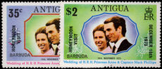 Barbuda 1973 Honeymoon Visit unmounted mint.