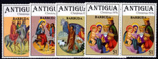 Barbuda 1976 Christmas in horizontal pairs, one with malformed second A in Barbuda unmounted mint.