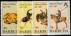 Barbuda 1971 Unissued Durer set unmounted mint.