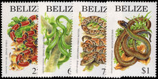 Belize 1997 Snakes unmounted mint.