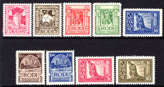 Dodecanese Islands 1929-32 Kings Visit without imprint fine unmounted mint (20c & 25c lightly mounted).