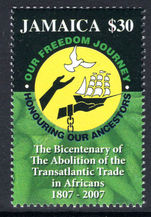 Jamaica 2007 Abolition of Transatlantic trade in Africans unmounted mint.