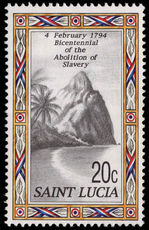 St Lucia 1994 Abolition of Slavery unmounted mint.