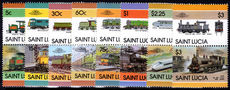 St Lucia 1986 Trains unmounted mint.
