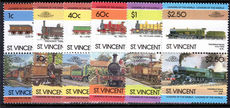 St Vincent 1985 Locomotives (4th issue) unmounted mint.