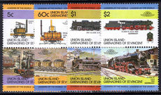 Union Island 1984 Railway Locomotives (1st series) unmounted mint.