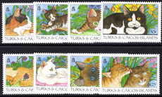 Turks & Caicos Islands 1995 Cats unmounted mint.