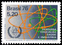 Brazil 1976 Atomic Energy Conference unmounted mint.