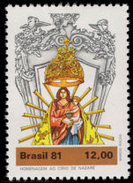 Brazil 1981 Our Lady of Nazareth unmounted mint.