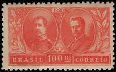 Brazil 1920 King of the Belgians unmounted mint.