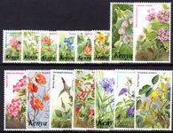 Kenya 1983 Flowers set less 80c, 1st 1s, 3s, 4s, 7s unmounted mint.