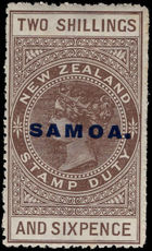 Samoa 1925-28 2s6d deep grey-brown lightly mounted mint.