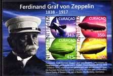 Curacao 2015 Zeppelin souvenir sheet unmounted mint.