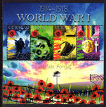 Curacao 2015 World War 1 souvenir sheet unmounted mint.