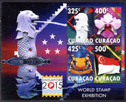 Curacao 2015 Singapore Stamp Exhibition souvenir sheet unmounted mint.