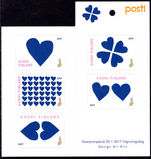 Finland 2017 Valentines Day booklet unmounted mint.
