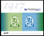 Finland 2017 Anniversary of the stamp issue Finnish Coat of Arms souvenir sheet unmounted mint.