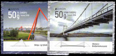 Iceland 2018 Europa: bridges unmounted mint.