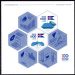 Iceland 2018 100 years of independence sheetlet souvenir sheet unmounted mint.