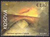 Kosovo 2017 Diving Competition from Fshejte bridge unmounted mint.