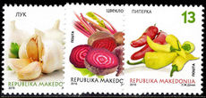 Macedonia 2016 Vegetables unmounted mint.
