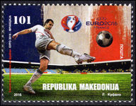 Macedonia 2016 European Football Championship fine lightly mounted mint.