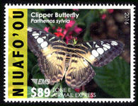 Niuafo'ou 2016 $89 Airmail Express Butterfly unmounted mint.