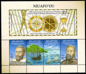 Niuafo'ou 2016 400th Anniversary of the European discovery souvenir sheet unmounted mint.