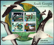 South Georgia 2017 Protection of Albatrosses souvenir sheet unmounted mint.