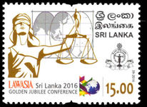 Sri Lanka 2016 Asia-Pacific Legal Federation unmounted mint.