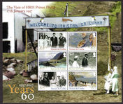 Tristan da Cunha 2017 60th Anniversary of visit of Prince Philip souvenir sheet unmounted mint.