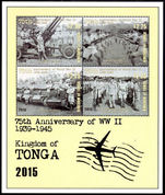 Tonga 2016 Commemoration of the Second World War souvenir sheet unmounted mint.
