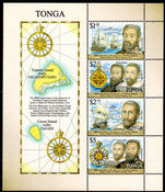 Tonga 2016 400th Anniversary of the European discovery souvenir sheet unmounted mint.