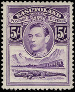 Basutoland 1938 5s violet mounted mint.
