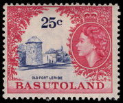 Basutoland 1961-63 25c Old Fort mounted mint.