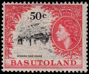 Basutoland 1961-63 50c Mission Cave House mounted mint.