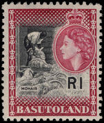 Basutoland 1961-63 1r Mohair mounted mint.