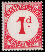 Basutoland 1933-52 1d carmine postage due mounted mint.
