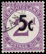 Basutoland 1961 5c on 2d violet postage due used.