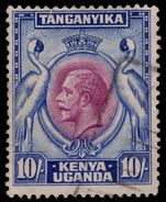 Kenya Uganda & Tanganyika 1935-37 10s purple and blue fine used.