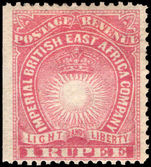 British East Africa 1890-95 1r carmine mounted mint.