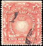 British East Africa 1890-95 2r brick-red fine used.