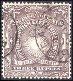 British East Africa 1890-95 3r slate-purple fine used.